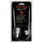 """Спицы прямые гибкие 6.0 60см со счетчиком петель """"Pony"""""""