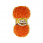 """Пряжа """"Brilliant"""" цв. 04 оранжевый 100% полиэстер 50гр / 90м """"Adelia"""" (Австралия)"""