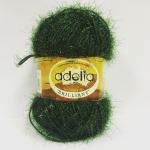 """Пряжа """"Brilliant"""" цв. 31 т. зелёный 100% полиэстер 50гр / 90м """"Adelia"""" (Австралия)"""
