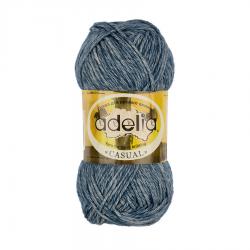 """Пряжа """"Casual"""" цв. 09 синий 72% хлопок 28% акрил 50гр / 130м """"Adelia"""" (Австралия)"""