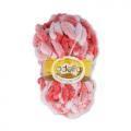 """Пряжа """"Fantasy Luxe Print"""" цв. 09 нежн.розовый-св.красный 100% полиэстер 5х100гр / 39м """"Adelia"""" (Австралия)"""