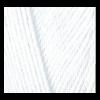 """Пряжа """"Miss"""" цв. 055 белый 100% мерсеризованный хлопок 5х50гр / 280м """"Alize"""" (Турция)"""