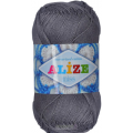 "Пряжа ""Miss"" цв. 476 темно-серый 100% мерсеризованный хлопок 5х50гр / 280м ""Alize"" (Турция)"