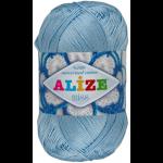 """Пряжа """"Miss"""" цв. 480 светло-голубой 100% мерсеризованный хлопок 5х50гр / 280м """"Alize"""" (Турция)"""