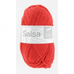 """Пряжа """"Salsa"""" 40 (красная) 60% хлопок 40%акрил 110м/50гр"""