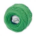 """Пряжа """"Ирис"""" цв. 0319 яр. зелёный 100% хлопок  10 х 10гр / 82м""""Gamma"""""""