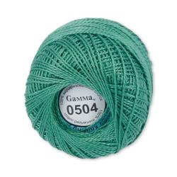 """Пряжа """"Ирис"""" цв. 0504 зелёный 100% хлопок  10 х 10гр / 82м""""Gamma"""""""