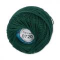 """Пряжа """"Ирис"""" цв. 0720 т. зелёный 100% хлопок  10 х 10гр / 82м""""Gamma"""""""