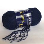 "Пряжа ""Libra Lux"" синяя 20м/50гр 100% хлопок ""Mondial"" (Италия)"