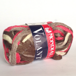 """Пряжа """"Volant Color"""" розово-коричневая 30м/50гр 100% акрил """"Mondial"""" (Италия)"""