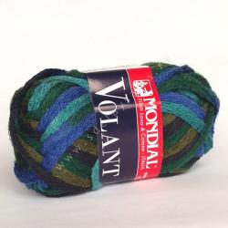 """Пряжа """"Volant Color"""" сине-зеленая 30м/50гр 100% акрил """"Mondial"""" (Италия)"""
