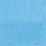 """Пряжа """"Ангорская тёплая"""" цв. 005 голубой 40% шерсть 60% акрил 5х100гр / 480м """"Пехорка"""""""