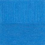 "Пряжа ""Ангорская тёплая"" цв. 045 т. бирюза 40% шерсть 60% акрил 5х100гр / 480м ""Пехорка"""