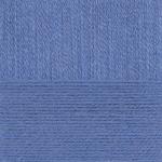 """Пряжа """"Ангорская тёплая"""" цв. 256 св. джинса 40% шерсть 60% акрил 5х100гр / 480м """"Пехорка"""""""