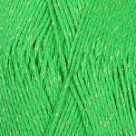 """Пряжа """"Блестящее лето"""" цв. 480 яр. зелень 95% мерсеризованный хлопок 5% метанит 5х100гр / 380м """"Пехорка"""""""