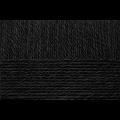 """Пряжа """"Деревенская"""" цв. 002 чёрный 100% шерсть 10х100гр / 250м """"Пехорка"""""""