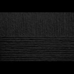 """Пряжа """"Детский каприз"""" цв. 002 чёрный 50% мериносовая шерсть 50% фибра 10х50гр / 225м """"Пехорка"""""""