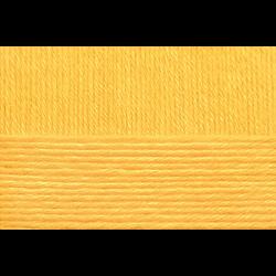 """Пряжа """"Детский каприз"""" цв. 012 желток 50% мериносовая шерсть 50% фибра 10х50гр / 225м """"Пехорка"""""""