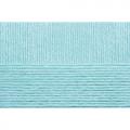 """Пряжа """"Детская объёмная"""" цв. 222 голубая бирюза 100% микрофибра 5х100гр / 400м """"Пехорка"""""""