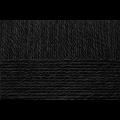 """Пряжа """"Детский каприз тёплый"""" цв. 002 чёрный 50% мериносовая шерсть 50% фибра 10х50гр / 125м """"Пехорка"""""""