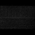 """Пряжа """"Конкурентная"""" цв. 002 чёрный 50% шерсть 50% акрил 10х100гр / 250м """"Пехорка"""""""