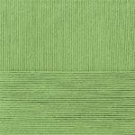 """Пряжа """"Лаконичная"""" цв. 448 св. оливковый 50% хлопок 50% акрил 5х100гр / 212м """"Пехорка"""""""