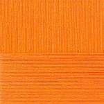 "Пряжа ""Лаконичная"" цв. 485 жёлто-оранжевый 50% хлопок 50% акрил 5х100гр / 212м ""Пехорка"""