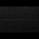 """Пряжа """"Мериносовая"""" цв. 002 чёрная 50% мериносовая шерсть 50% акрил 10х100гр / 200м """"Пехорка"""""""