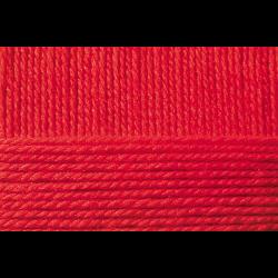 """Пряжа """"Мериносовая"""" цв. 006 красная 50% мериносовая шерсть 50% акрил 10х100гр / 200м """"Пехорка"""""""