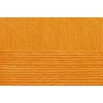 """Пряжа """"Народная классика"""" цв. 485 жёлто-оранжевый 30% шерсть 70% акрил 10х100гр / 400м """"Пехорка"""""""
