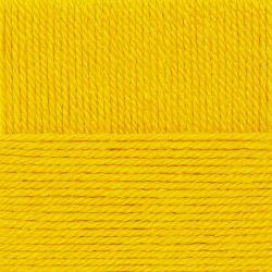 """Пряжа """"Народная традиция"""" цв. 012 желток 30% шерсть 70% акрил 10х100гр / 100м """"Пехорка"""""""