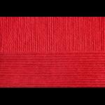 """Пряжа """"Семейная"""" цв. 006 красный 40% шерсть 60% акрил 5х100гр / 300м """"Пехорка"""""""