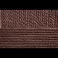 """Пряжа """"Смесовая"""" цв. 517 коричневый меланж 30% шерсть 70% высокообъёмный акрил 5х200гр / 200м """"Пехорка"""""""
