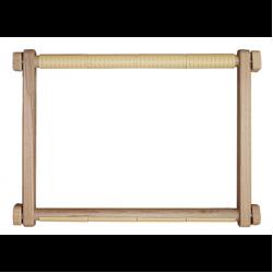 """Пяльцы-рамка деревянная с пластиковыми клипсами 30х40см """"Luca-S"""""""