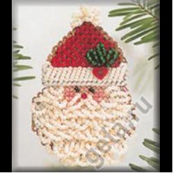 """Набор для вышивания бисером - брошь """"Кудрявый Дед Мороз"""" """"Mill Hill"""" (США)"""