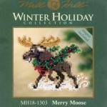 """Набор для вышивания бисером - магнит """"Рождественский лось"""" """"Mill Hill"""" (США)"""
