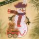 """Набор для вышивания бисером """"Снеговик с медвежонком"""" """"Mill Hill"""" (США)"""