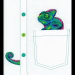"""Набор для вышивания на одежде """"Любопытный хамелеон"""" """"МП Студия"""""""
