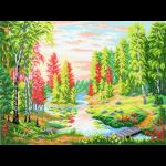 """Канва с рисунком """"Рассвет в лесу"""" """"МП Студия"""""""