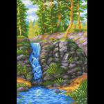 "Канва с рисунком ""Лесной водопад"" ""МП Студия"""