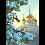 """Ткань с рисунком для вышивания бисером """"Храм"""" """"МП Студия"""""""