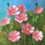 """Ткань с рисунком для вышивания бисером """"Розовые цветы"""" """"МП Студия"""""""