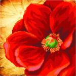 """Ткань с рисунком для вышивания бисером """"Алый цветок"""" """"МП Студия"""""""