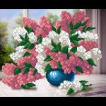 """Ткань с рисунком для вышивания бисером """"Букет цветов у окна"""" """"МП Студия"""""""