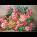 """Ткань с рисунком для вышивания бисером """"Розовые розы"""" """"МП Студия"""""""