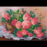 "Ткань с рисунком для вышивания бисером ""Корзина роз"" ""МП Студия"""
