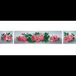 """Ткань с рисунком для вышивания бисером """"Розы"""" """"МП Студия"""""""