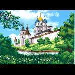 """Ткань с рисунком для вышивания бисером """"Монастырь весной"""" """"МП Студия"""""""