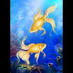 """Ткань с рисунком для вышивания бисером """"Подводный мир"""" """"МП Студия"""""""