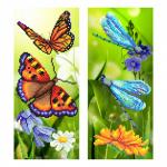 """Ткань с рисунком для вышивания бисером """"Райские бабочки"""" """"МП Студия"""""""